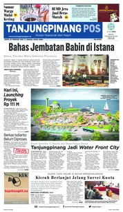 Tanjungpinang Pos Cover 23 February 2018