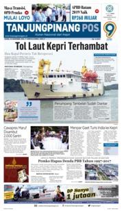 Tanjungpinang Pos Cover 15 November 2018