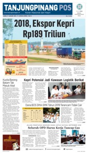 Tanjungpinang Pos Cover 17 January 2019