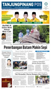 Cover Tanjungpinang Pos 21 Januari 2019
