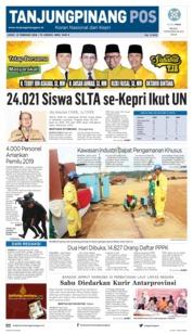 Cover Tanjungpinang Pos 15 Februari 2019
