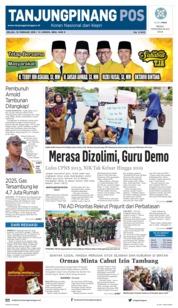 Cover Tanjungpinang Pos 19 Februari 2019