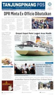 Cover Tanjungpinang Pos 14 Mei 2019
