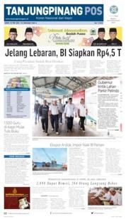 Tanjungpinang Pos Cover 20 May 2019