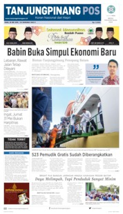 Tanjungpinang Pos Cover 29 May 2019