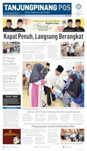 Tanjungpinang Pos Cover 31 May 2019