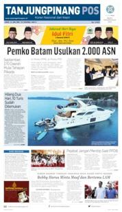 Tanjungpinang Pos Cover 14 June 2019