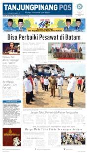 Tanjungpinang Pos Cover 15 August 2019