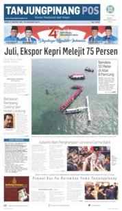 Tanjungpinang Pos Cover 19 August 2019