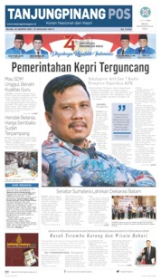 Tanjungpinang Pos Cover 20 August 2019