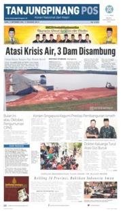 Tanjungpinang Pos Cover 11 September 2019