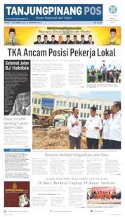 Tanjungpinang Pos Cover 12 September 2019