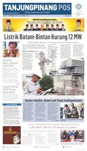 Tanjungpinang Pos Cover 13 September 2019