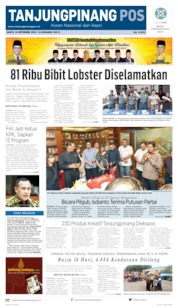 Tanjungpinang Pos Cover 14 September 2019