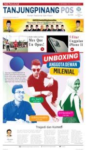 Tanjungpinang Pos Cover 15 September 2019