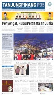 Tanjungpinang Pos Cover 16 September 2019