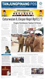 Tanjungpinang Pos Cover 17 September 2019