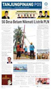 Cover Tanjungpinang Pos 12 Oktober 2019