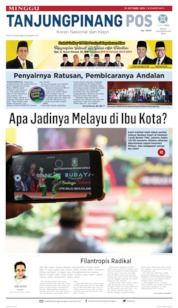 Cover Tanjungpinang Pos 13 Oktober 2019