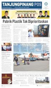 Tanjungpinang Pos Cover 14 October 2019