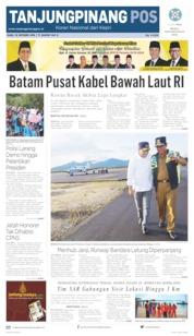 Cover Tanjungpinang Pos 16 Oktober 2019
