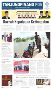 Cover Tanjungpinang Pos 18 Oktober 2019