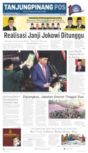 Tanjungpinang Pos Cover 21 October 2019
