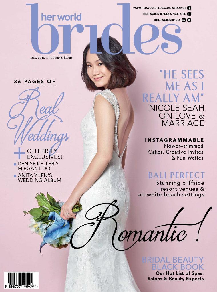 Majalah Digital her world BRIDES Singapore Desember–Februari 2016