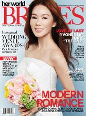 Her world BRIDES Singapore Magazine Cover June–August 2014