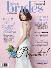 Cover Majalah her world BRIDES Singapore Desember–Februari 2016