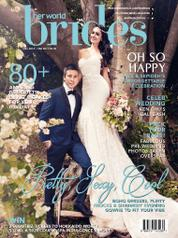 Cover Majalah her world BRIDES Singapore Desember-Februari 2017