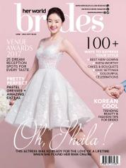 Her world BRIDES Singapore Magazine Cover June–August 2017