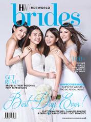 Cover Majalah her world BRIDES Singapore Desember-Februari 2018