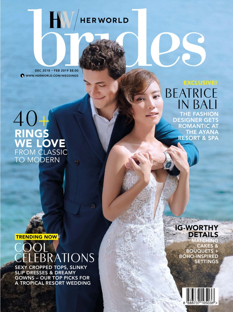 Her world BRIDES Singapore Digital Magazine December-February 2019