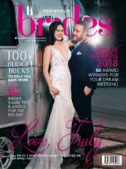 Her world BRIDES Singapore Magazine Cover June-August 2018