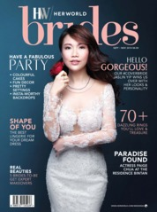 Her world BRIDES Singapore Magazine Cover September 2018