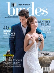 Cover Majalah her world BRIDES Singapore Desember-Februari 2019