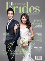 Cover Majalah her world BRIDES Singapore Maret-Mei 2019