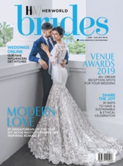 Her world BRIDES Singapore Magazine Cover June-August 2019