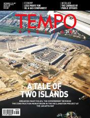 Cover Majalah TEMPO ENGLISH ED 1564 / 11–17 SEP 2017 ED 1564 11–17 September 2017