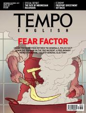 Cover Majalah TEMPO ENGLISH ED 1566 / 25–01 OCT 2017 ED 1566 25–01 Oktober 2017