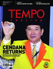 Cover Majalah TEMPO ENGLISH ED 1588 / 26–04 MAR 2018 ED 1588 26–04 Maret 2018