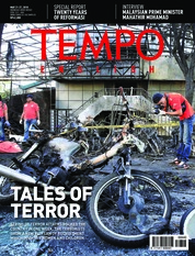 Cover Majalah TEMPO ENGLISH ED 1600 21-27 Mei 2018