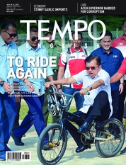 Cover Majalah TEMPO ENGLISH ED 1607 09-15 Juli 2018