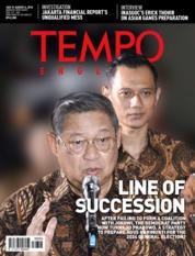 Cover Majalah TEMPO ENGLISH ED 1610 30-05 Agustus 2018