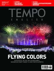 Cover Majalah TEMPO ENGLISH ED 1615 04-10 September 2018