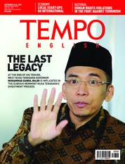 Cover Majalah TEMPO ENGLISH ED 1617 18-24 September 2018
