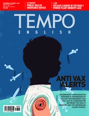 Cover Majalah TEMPO ENGLISH ED 1618 25-31 September 2018