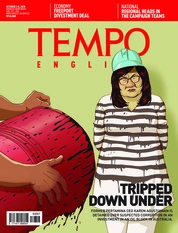 Cover Majalah TEMPO ENGLISH ED 1619 02-08 Oktober 2018