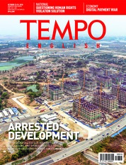 Cover Majalah TEMPO ENGLISH ED 1622 23-29 Oktober 2018
